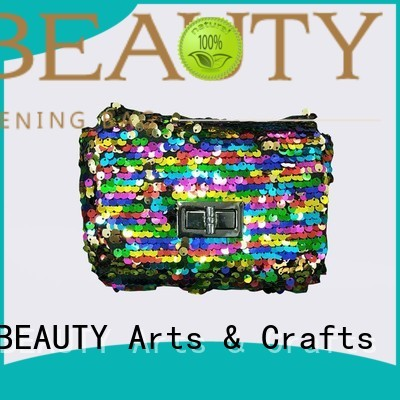 Hot women shiny sequins bags wholesale arrival TOP-BEAUTY Arts & Crafts Brand