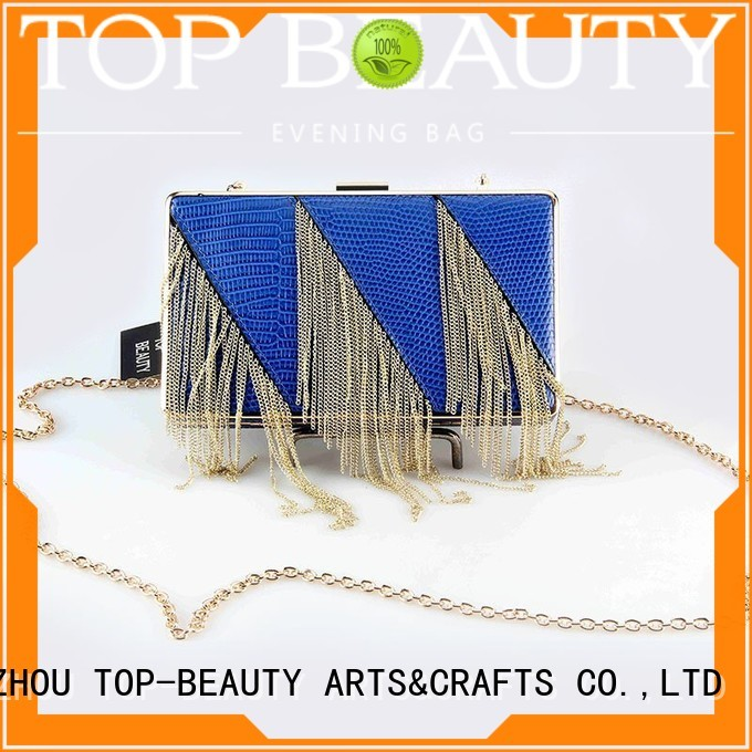 top selling arrival clutch fashion TOP-BEAUTY Arts & Crafts Brand sequins sling bags supplier