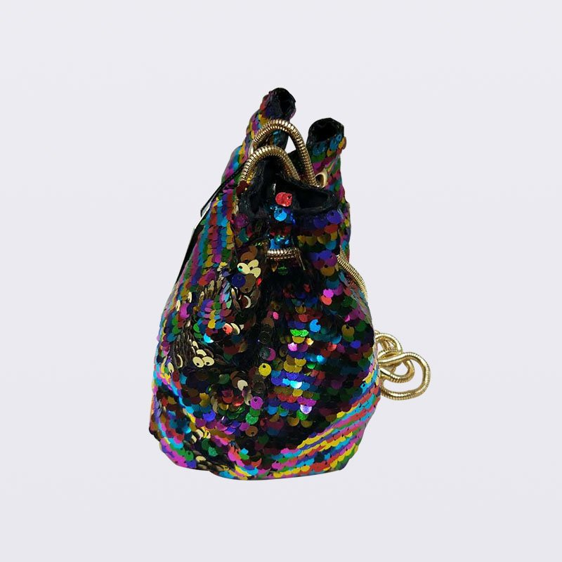 TOP-BEAUTY Arts & Crafts Fashion BlingBucketBagSequinShoulderBag Sequin Evening Bags image3