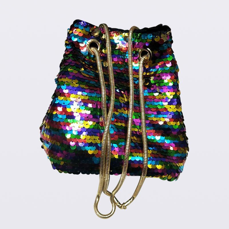 Fashion Bling Bucket Bag Sequin Shoulder Bag