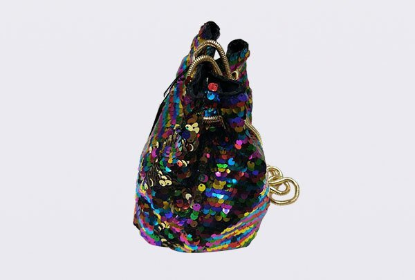 TOP-BEAUTY Arts & Crafts Brand suede shiny sequins bags wholesale sequin  supplier