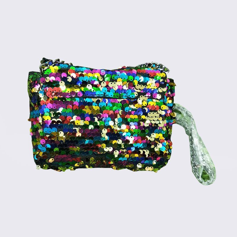 Fashion Shiny Sequins Sling Bag Mini Shoulder Bag for Women