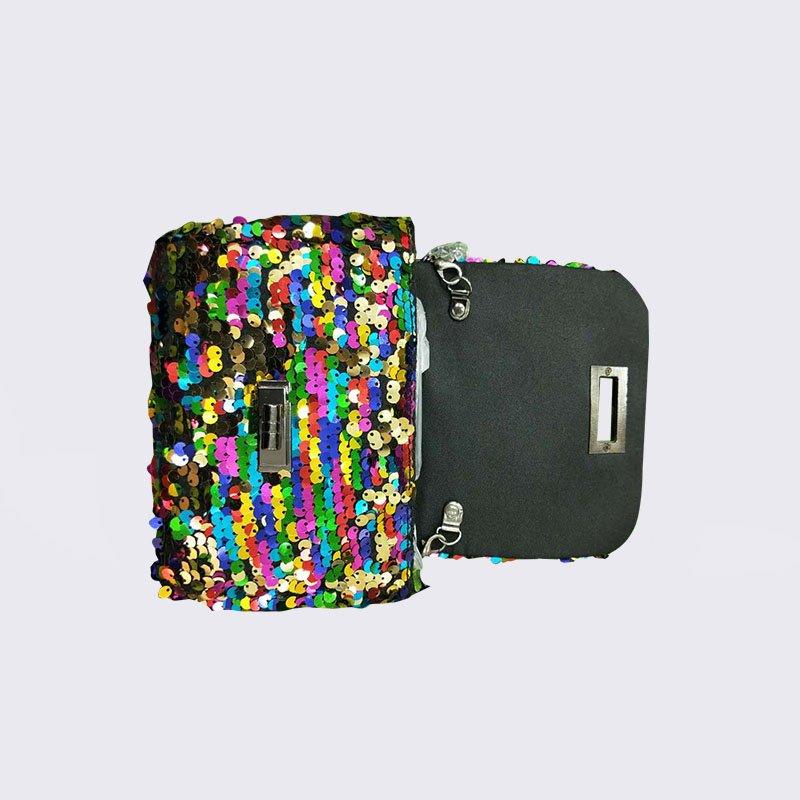 TOP-BEAUTY Arts & Crafts Fashion Shiny SequinsSlingBagMini ShoulderBagfor Women  Sequin Evening Bags image2