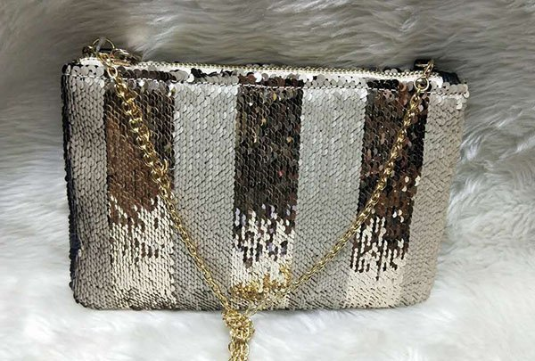 TOP-BEAUTY Arts & Crafts Brand fashionable velvet sequins sling bags manufacture