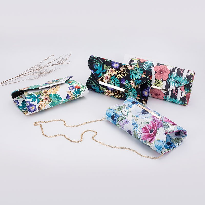 Hot-sale 2018 New Printed Fabric Evening Clutch For Wholesale
