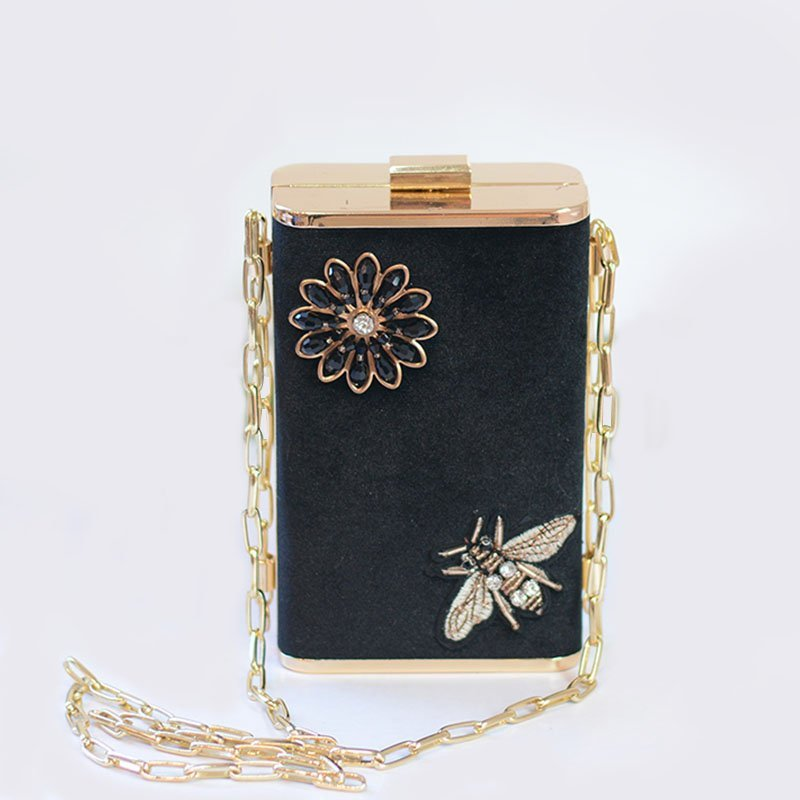 Wholesale 2018 New Metal Carved Case Ladies Party Clutch Cross-body