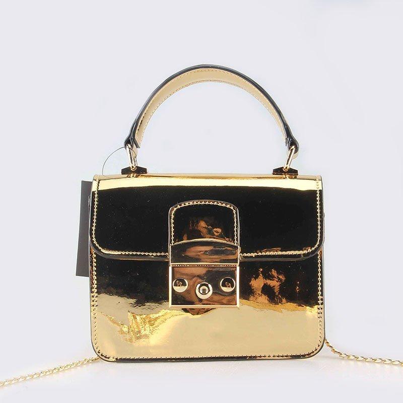 Mirror Metallic Women Crossbody Bag PU Messenger Bag