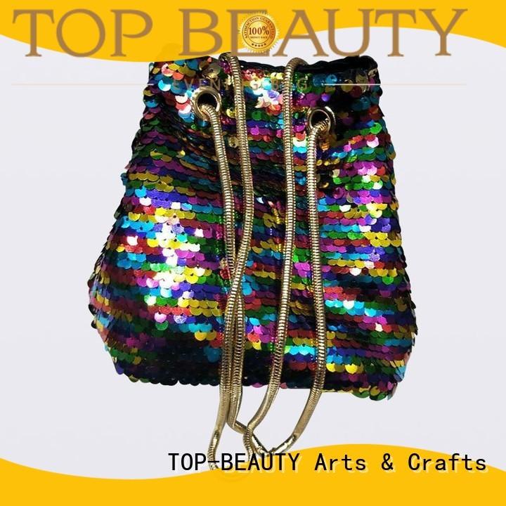 Quality TOP-BEAUTY Arts & Crafts Brand velvet sequinsslingbags
