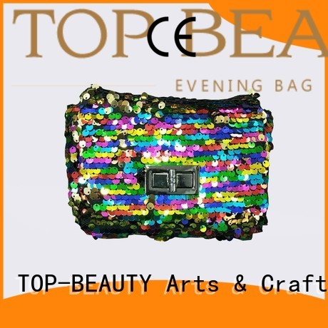 TOP-BEAUTY Arts & Crafts Brand rose kiss clutch shiny sequins bags wholesale