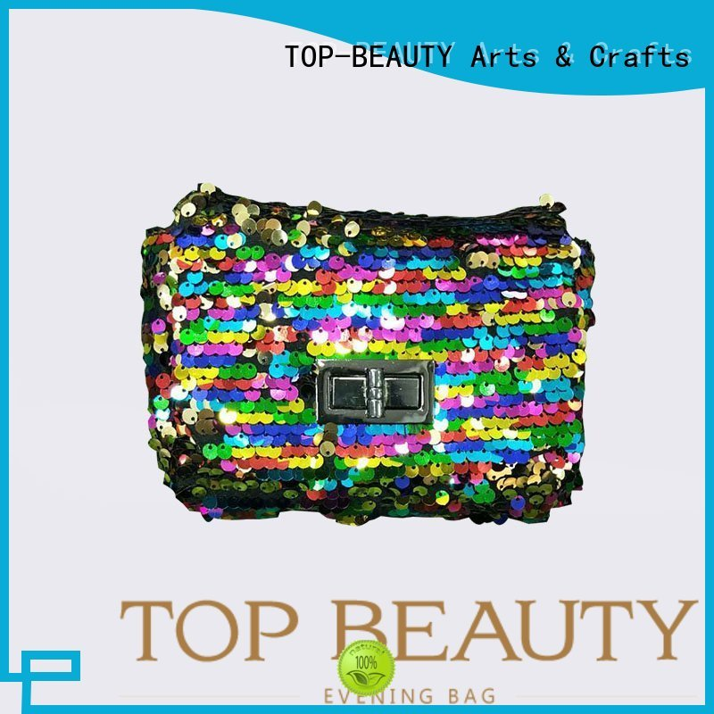 shiny sequins bags wholesale arrival cosmetic TOP-BEAUTY Arts & Crafts Brand company