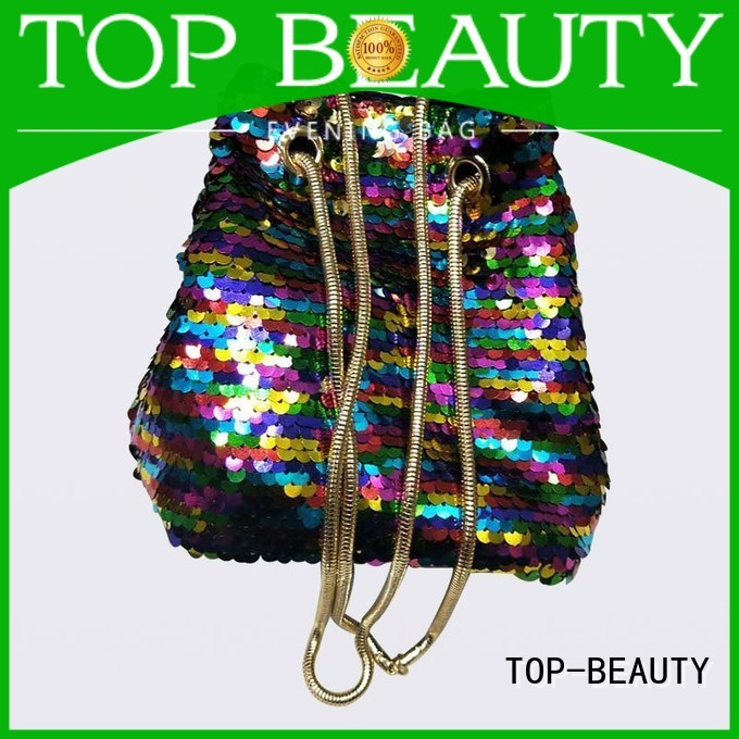 Quality TOP-BEAUTY Arts & Crafts Brand shiny sequins bags wholesale creditable trendy