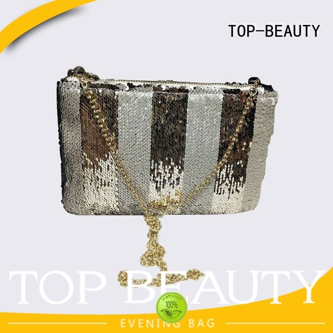 girl round new arrival clutch TOP-BEAUTY Arts & Crafts Brand sequins sling bags supplier