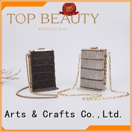 Quality TOP-BEAUTY Arts & Crafts Brand shiny sequins bags wholesale decoration carved