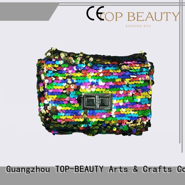 shiny sequins bags wholesale round envelope ladies TOP-BEAUTY Arts & Crafts Brand