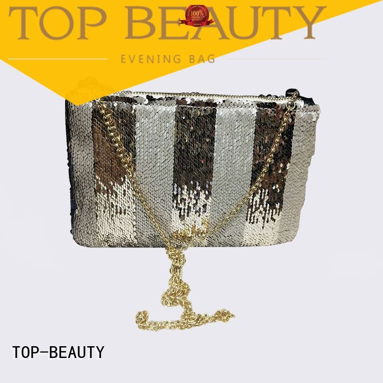 shiny sequins bags wholesale embroidery printed TOP-BEAUTY Arts & Crafts Brand sequins sling bags