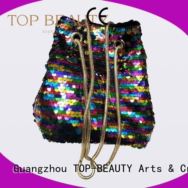 girl Custom new beauty sequins sling bags TOP-BEAUTY Arts & Crafts carved
