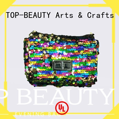 hotsale metal best shiny sequins bags wholesale TOP-BEAUTY Arts & Crafts manufacture