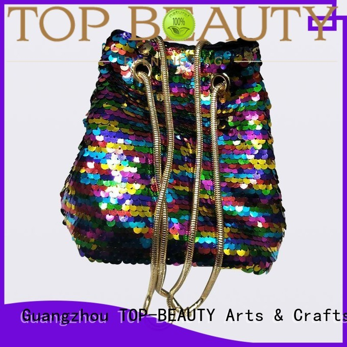 Custom spring arrival sequinsslingbags TOP-BEAUTY Arts & Crafts suede