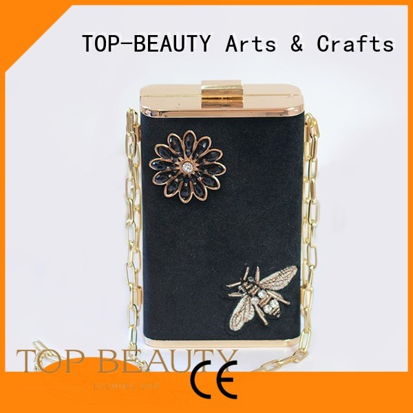 Wholesale wooden long sequins sling bags TOP-BEAUTY Arts & Crafts Brand