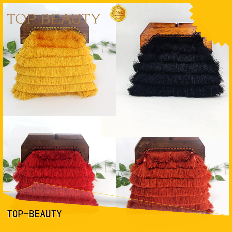 TOP-BEAUTY Arts & Crafts Brand pu spring custom shiny sequins bags wholesale