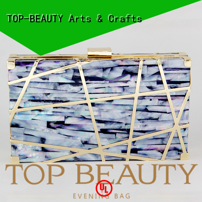 TOP-BEAUTY Arts & Crafts Brand mirror party hot sale custom shiny sequins bags wholesale
